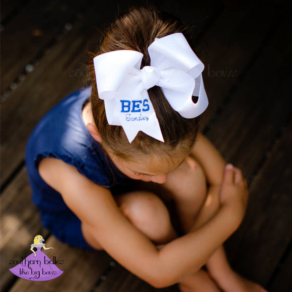 Custom School Spirit Bow