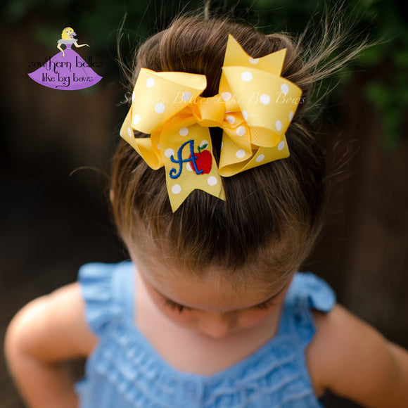 Yellow School Bow