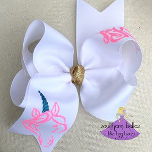 Unicorn Bow with Personalization