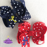 Personalized Polka Dot Hair Bows
