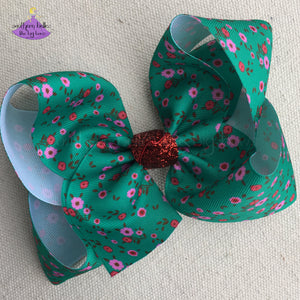 Fa La La Christmas Bow Made to Match Matilda Jane