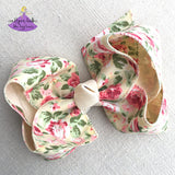 Easter Hair Bow - Large Creme