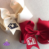 Christmas boutique bow with nativity