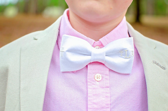 Easter Bow Tie with Cross & Monogram