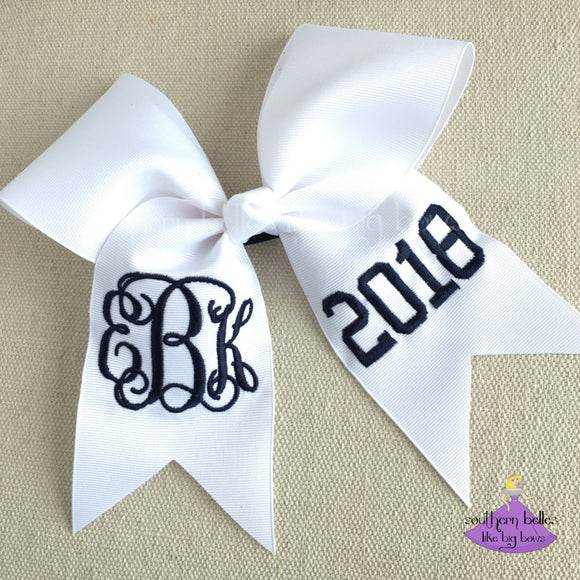 2018 Graduation Bow Personalized with Monogram