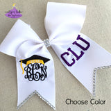 Personalized Graduation Cap Bow with Bling