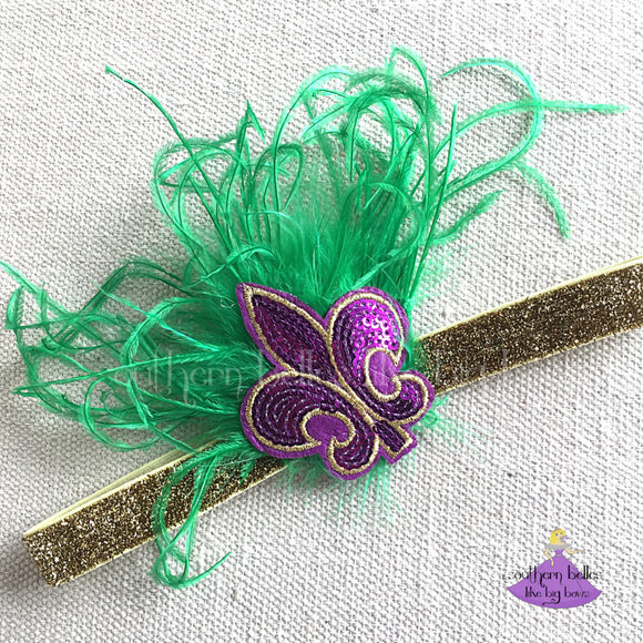 Mardi Gras Headband Baby to Adult