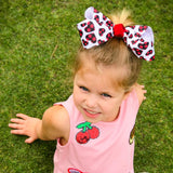 Valentine Bow with Buffalo Plaid Hearts - Small Medium or Large