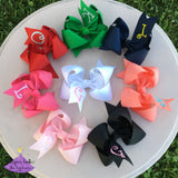 Personalized Bow with Initial Letter - Large & Jumbo
