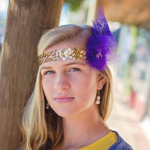 Mardi Gras Feather Flapper Headband