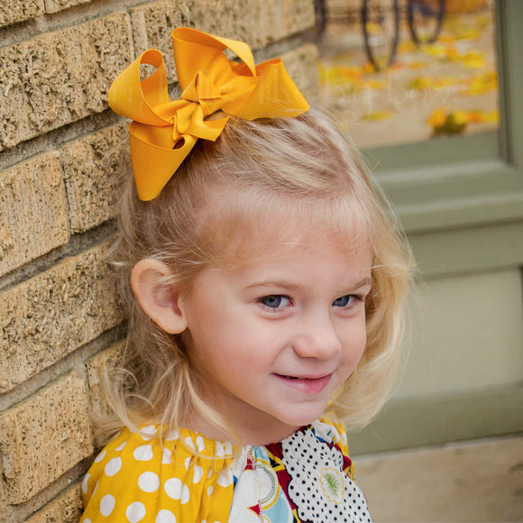 Mustard Yellow Boutique Bow - Small to Medium
