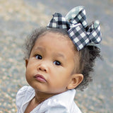 White Buffalo Plaid Bow