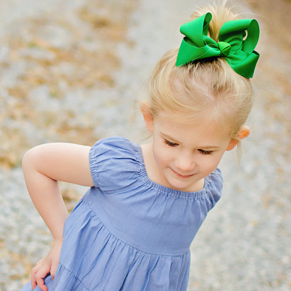 Emerald Green Boutique Bow - Small to Medium