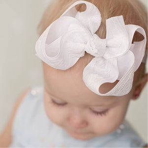 White Lace Baby Headband