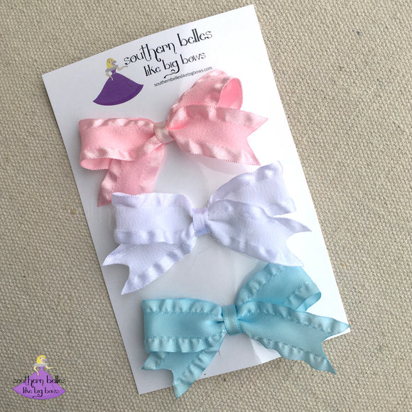 Small Ruffle Bow for Baby or Toddler