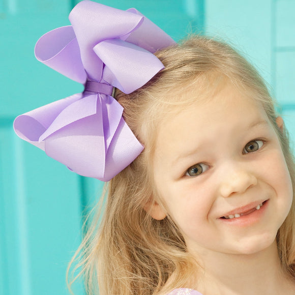 Big Lavender Layered Bow
