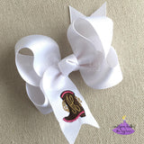 Cowboy Boot Bow with Monogram