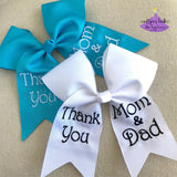 2019 Graduation Bow with Thank You Message for Mom & Dad