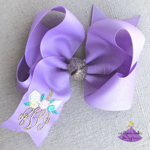 Personalized Unicorn Hair Bow Gift for Girls for Unicorn Party