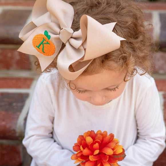 Personalized Pumpkin Hair Bow