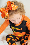 Orange Polka Dot Bow Hair Bow