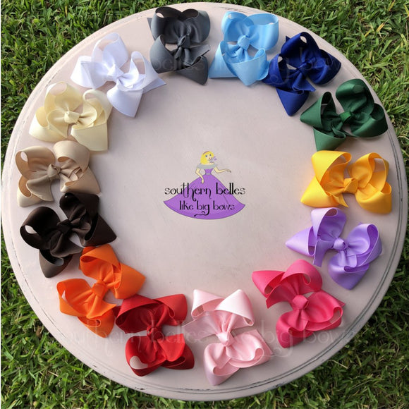5 inch boutique bows in a variety of colors