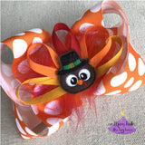 Thanksgiving Bow with Turkey