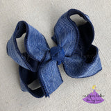 Jean Denim Hair Bow