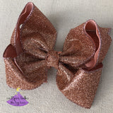Big Rose Gold Glitter Bow