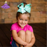 Big Aqua Boutique Bow, Big Aqua Hair Bow