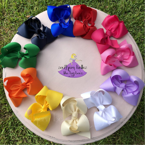 Big Hair Bows for Girls in Various Colors
