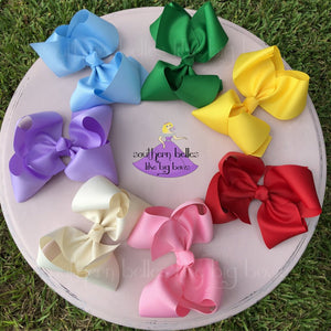 Jumbo Bows in Various Colors - Blue, Green, Yellow, Orange, Lavender, Red, Ivory, Purple, Pink, White