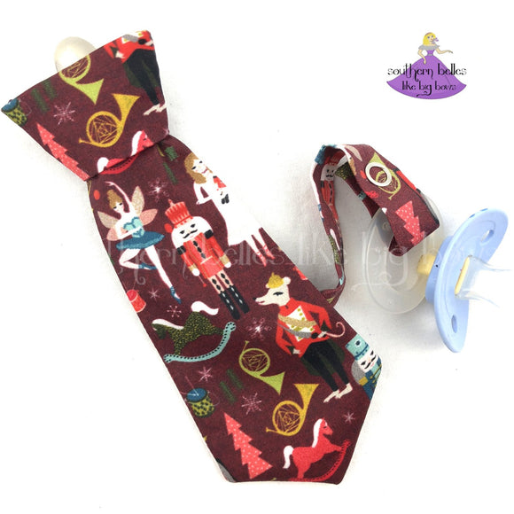 Nutcracker Pacifier Clip for Boy