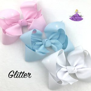 Big Glitter Hair Bow
