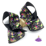 Black Mardi Gras Bow
