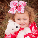 Valentine's Day Hearts Hair Bow