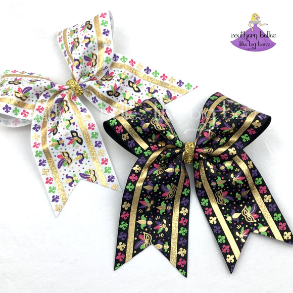 Mardi Gras Cheer Bows