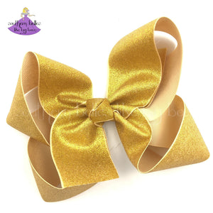 Big Gold Glitter Boutique Bow