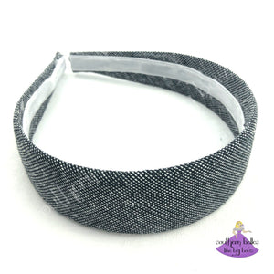 Black Chambray Hard Headband