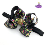 Black Mardi Gras Baby Boutique Bow Headbands