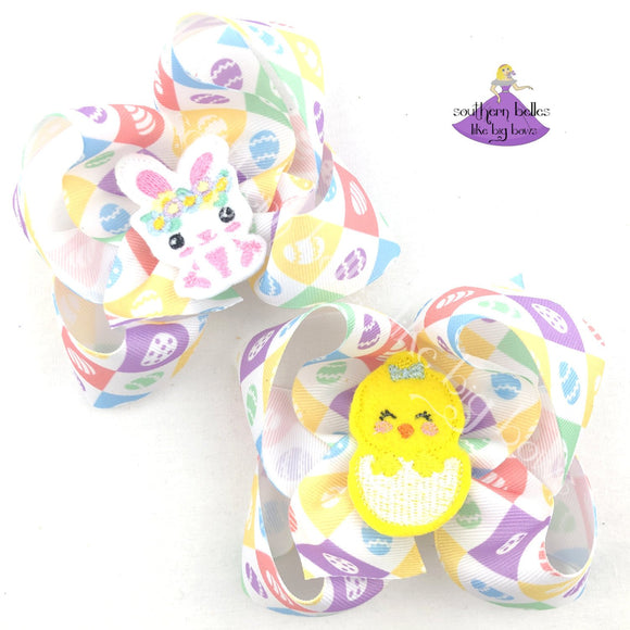 Easter Hair Bow for Girl
