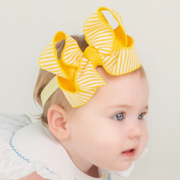 Seersucker Baby Headband Bow