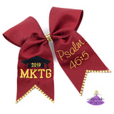 Personalized Graduation Cap Bow with custom bible verse
