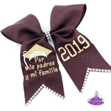 Custom Message Graduation Cap Bow (Multiple Colors)