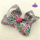 Bohemian Ikat Hair Bow - Large & Jumbo