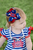 Red White and Blue Popsicle Hair Bow for Fourth of July