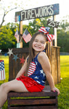 Big Glitter Flag Bow for the Fourth of July with Stars and Stripes
