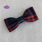 Plaid #37 Small Hair Bow for School Uniform