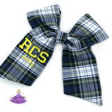 Personalized Big Uniform Plaid Bows #80