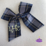 Uniform Plaid #57 Bow with personalization